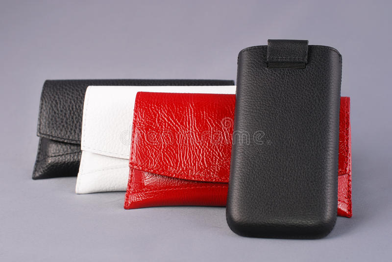 Download Mobile phone cases stock image. Image of wireless, black - 24256149