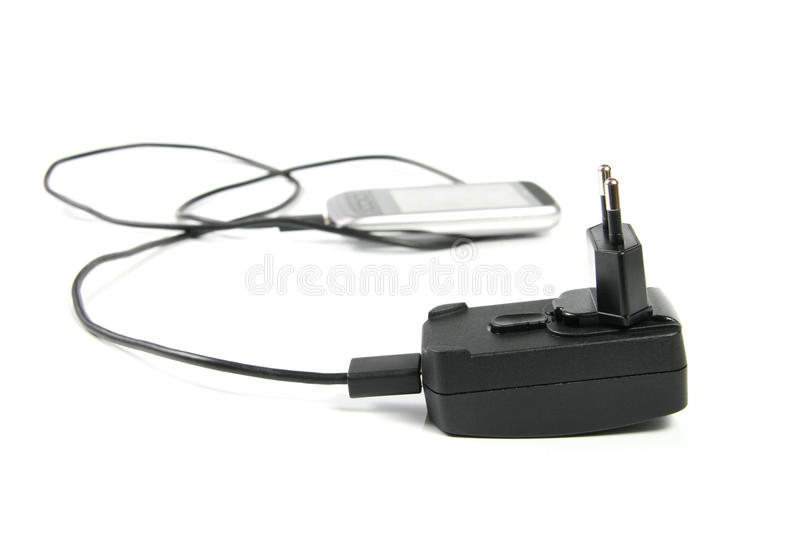 Mobile phone charger stock photos