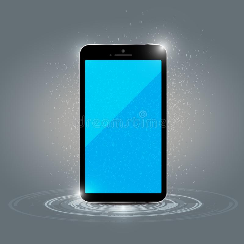 Mobile phone charging concept. Is a general illustration royalty free illustration