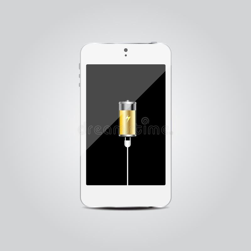Mobile phone charging concept. Is a general illustration vector illustration