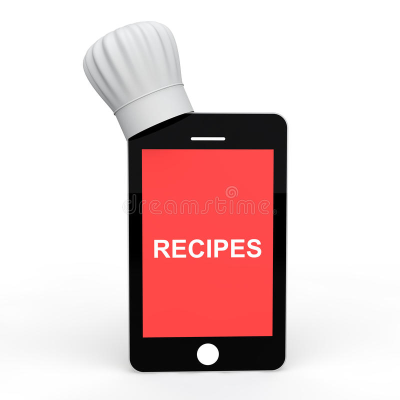 Mobile phone with chef hat royalty free stock photography