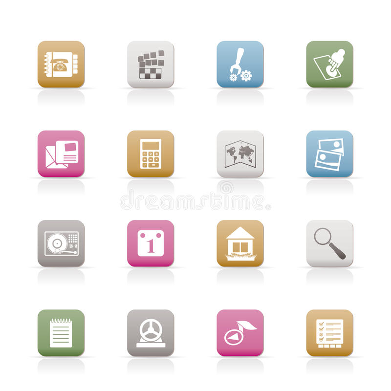 Download Mobile Phone And Computer Icons Stock Vector - Image: 13308555