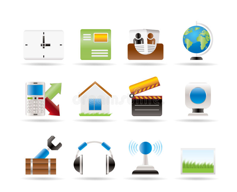 Mobile phone and computer icons vector illustration