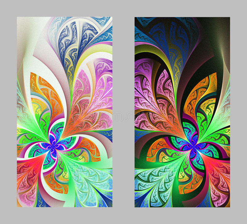 Mobile phone cover back with beautiful Pattern in fractal design royalty free illustration
