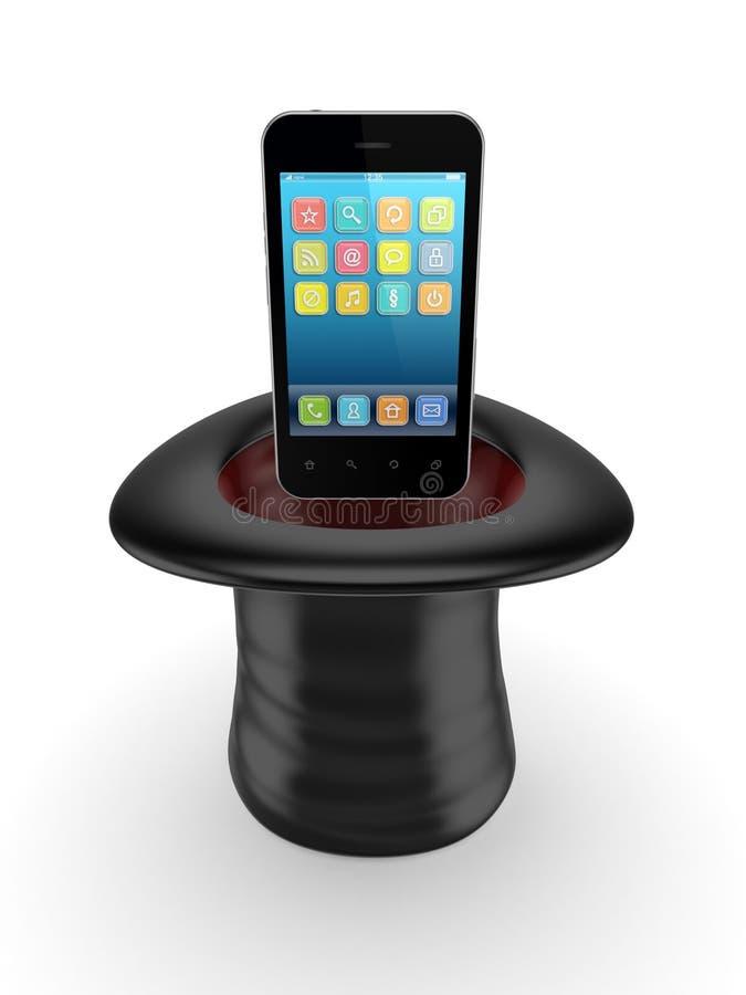 Download Mobile Phone In A Cylinder. Stock Illustration - Image: 29777051