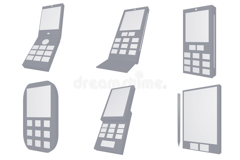 Download Mobile Phone Designs Type Icons Stock Illustration - Image: 5421497