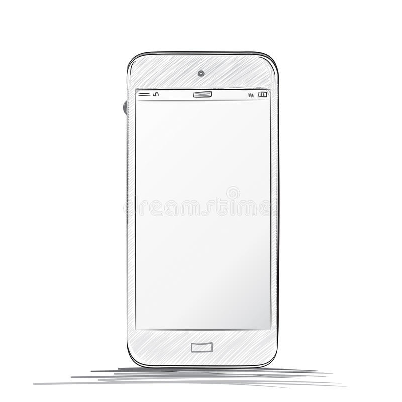Mobile Phone Drawing royalty free stock photo
