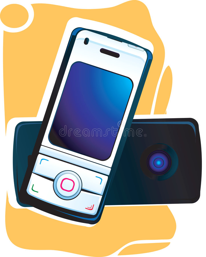 Download Mobile Phone Front And Back Stock Illustration - Image: 3495586