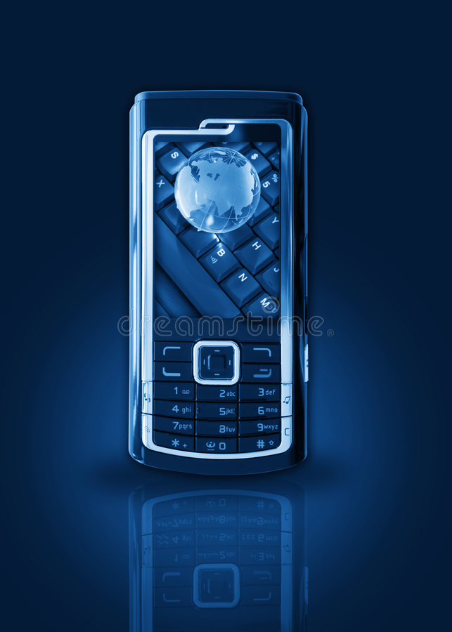 Download Mobile phone gprs concept stock photo. Image of electronic - 2694894