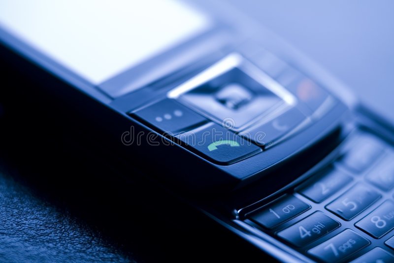 Mobile phone or gsm. Mobile phone or cellphone - gsm, global connection and telecommunication royalty free stock images