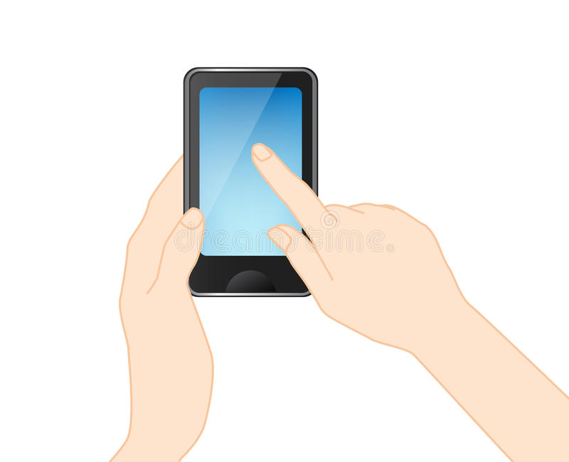 Download Mobile Phone With Hand, Vector Stock Vector - Image: 33216312