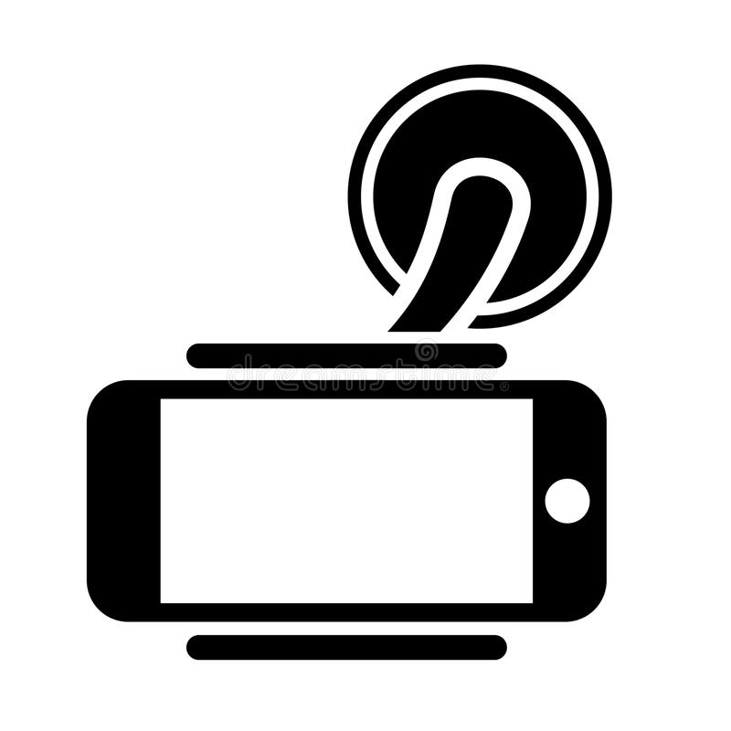 Mobile Phone Holder vector icon on white background royalty free stock photos