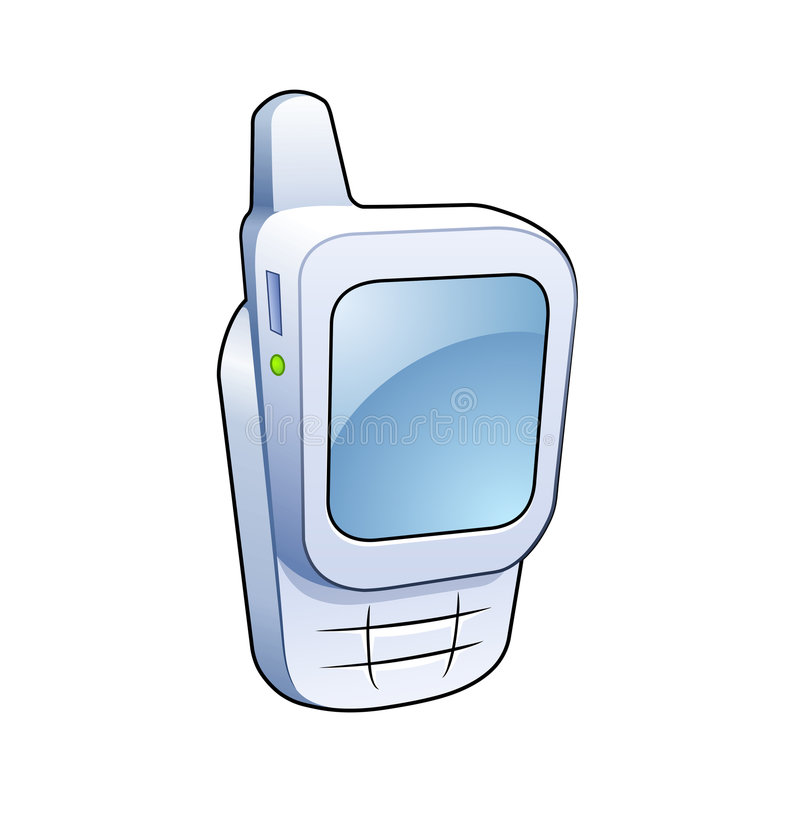 Mobile phone icon royalty free illustration