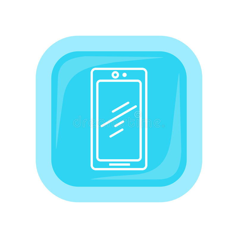 Mobile Phone Icon . Cellphone Communicator. Mobile phone icon on white. Cellphone communicator. Communication device. For mobile appliances, web design, buttons vector illustration