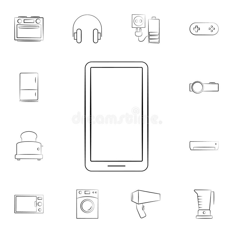Mobile phone icon. Detailed set of home appliances. Premium graphic design. One of the collection icons for websites, web design,. Mobile app on white royalty free illustration
