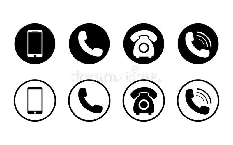 Mobile phone icon on isolated background.Set of call icon and telephone, smart in flat style for web. Phone symbol pack. vector stock illustration