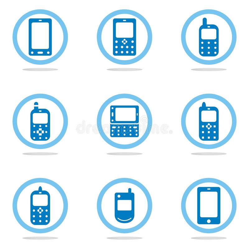Free Mobile Phone Icon Set Stock Images - 18359394