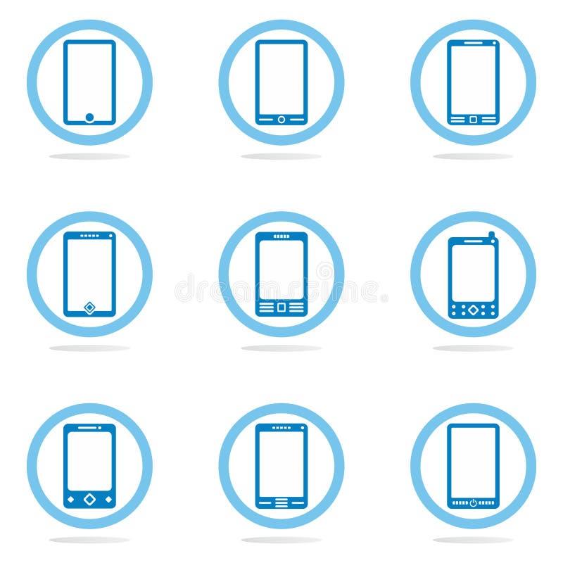 Mobile phone icon set stock photo