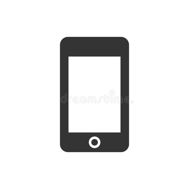 Mobile phone icon. Simple illustration of a mobile phone icon vector illustration