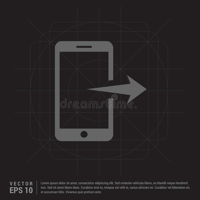 Mobile phone icon stock illustration