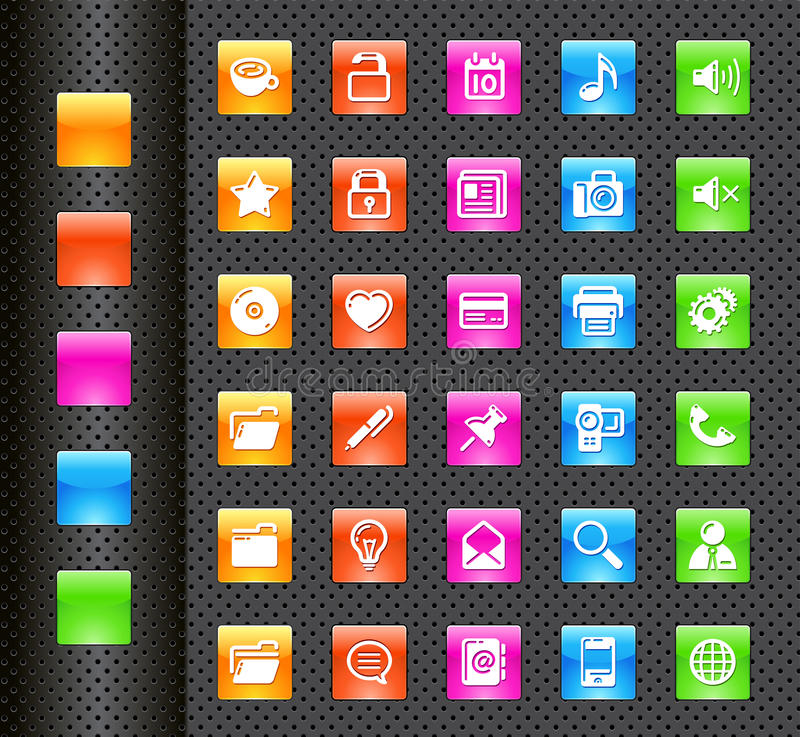 Mobile phone icons royalty free illustration