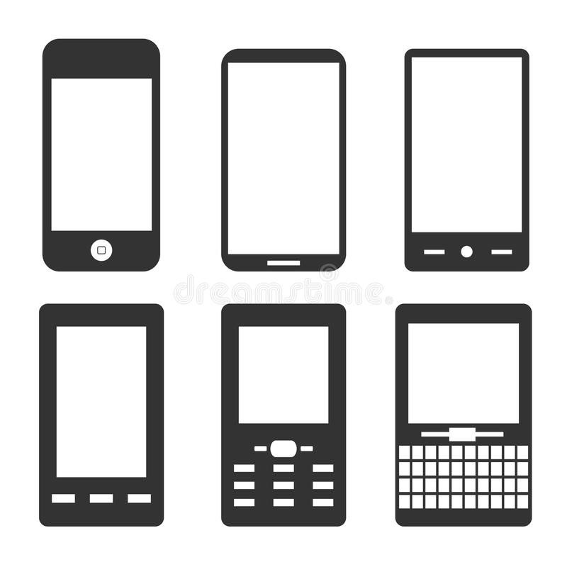 Free Mobile Phone Icons Stock Image - 18990401