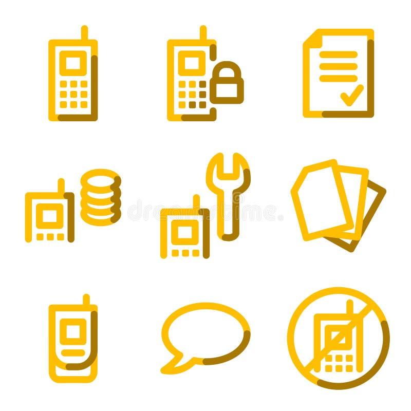 Download Mobile phone icons stock illustration. Illustration of lock - 5714756