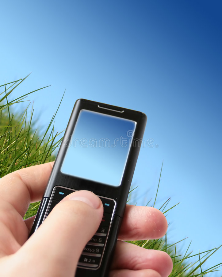Free Mobile Phone In Hand. Royalty Free Stock Photography - 8626927