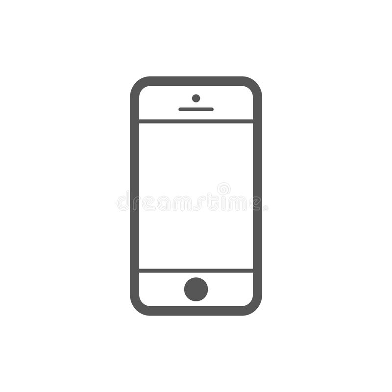 Mobile phone iphone  outline flat style icon. Smartphone outline style icon vector eps10. outline vector sign for web design. stock illustration