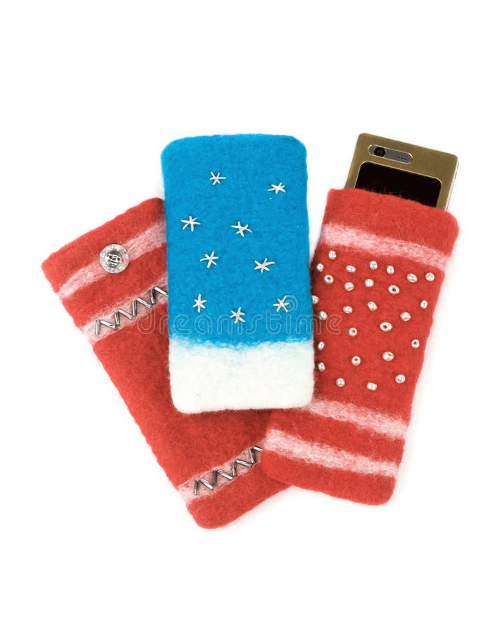 Mobile phone isolated cases stock photos