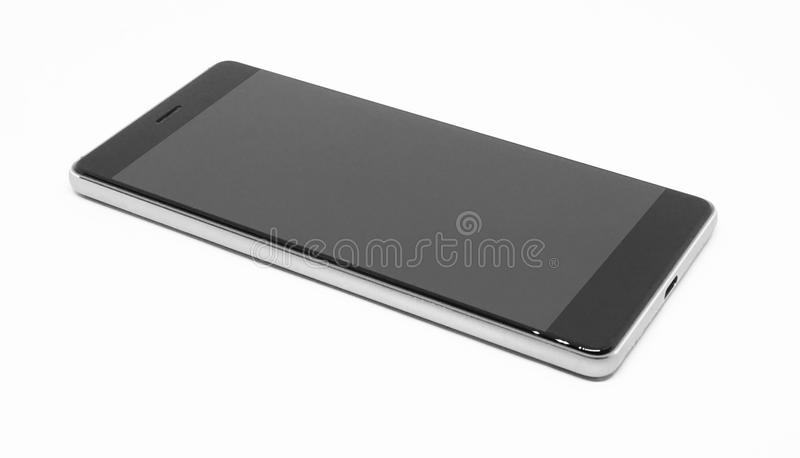 Mobile phone isolated on white background. stock photography