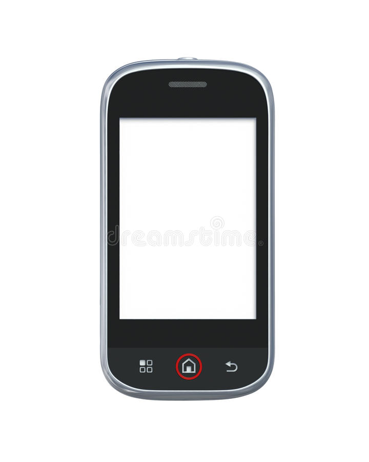 Mobile phone isolated on white with clipping path
