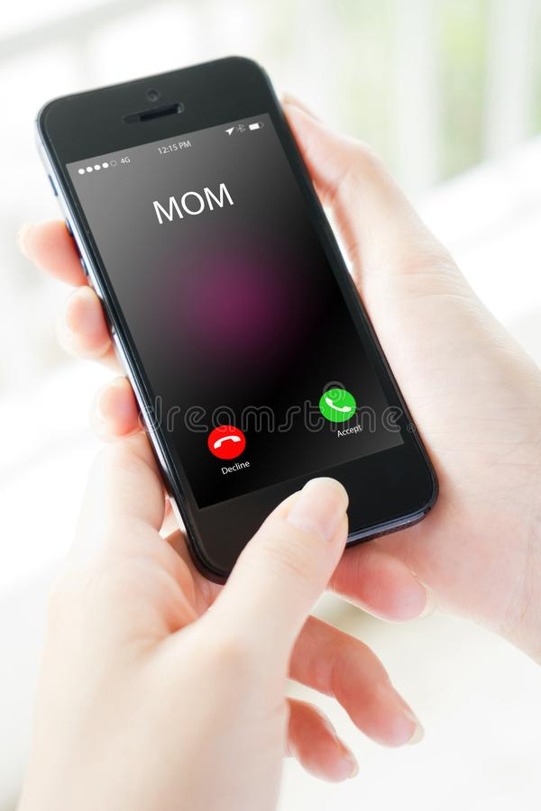 The mobile phone that keeps you. Connected stock photography