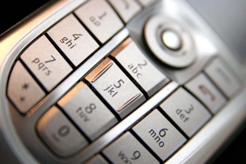 Mobile phone keypad stock images