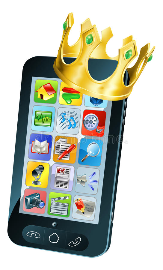 Download Mobile Phone King stock vector. Image of icon, award - 25610414
