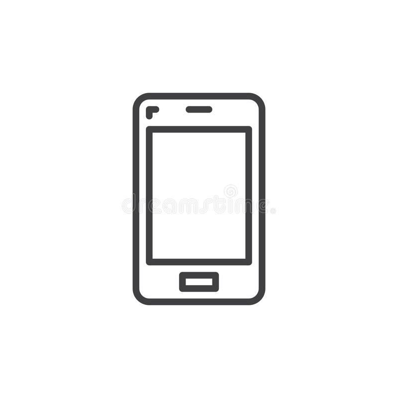 Mobile Phone Line Icon Outline Vector Sign Linear Style