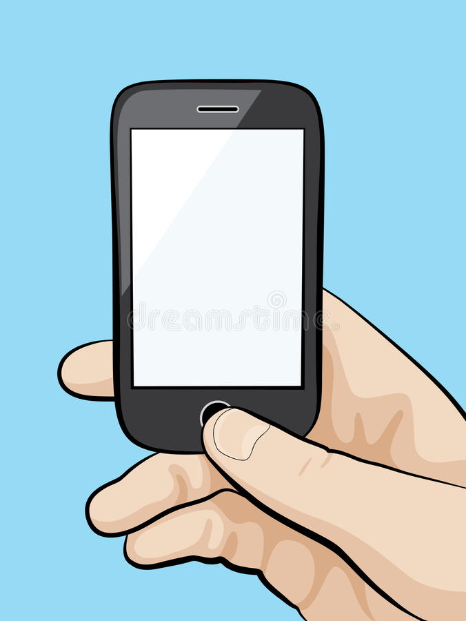 Mobile phone in the male hand