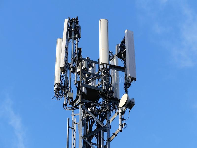 Mobile phone mast by M25 Motorway, Rickmansworth royalty free stock image