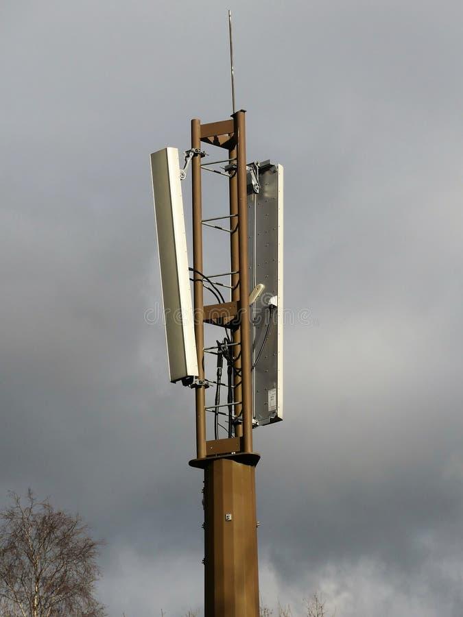 Mobile Phone Mast by Railway Line, Chorleywood stock photo