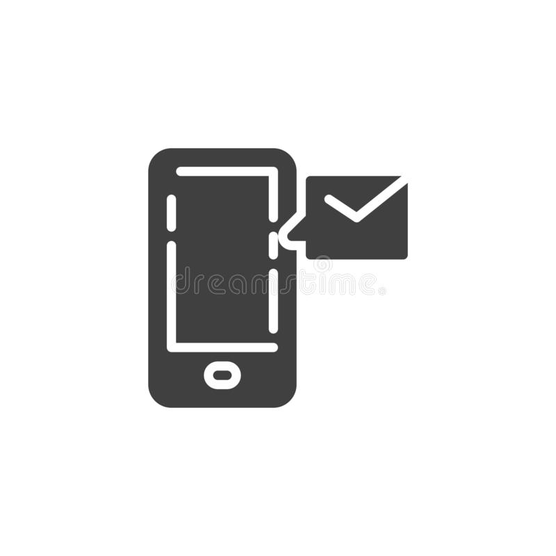 Mobile phone message vector icon stock illustration