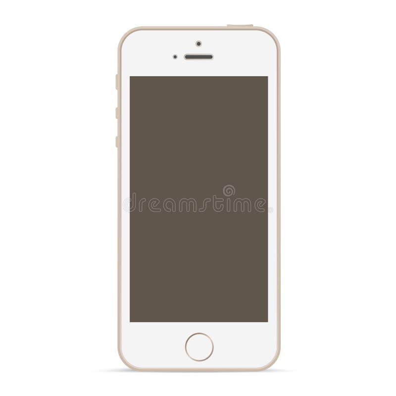 mobile phone mockup design template stock vector. Black Bedroom Furniture Sets. Home Design Ideas