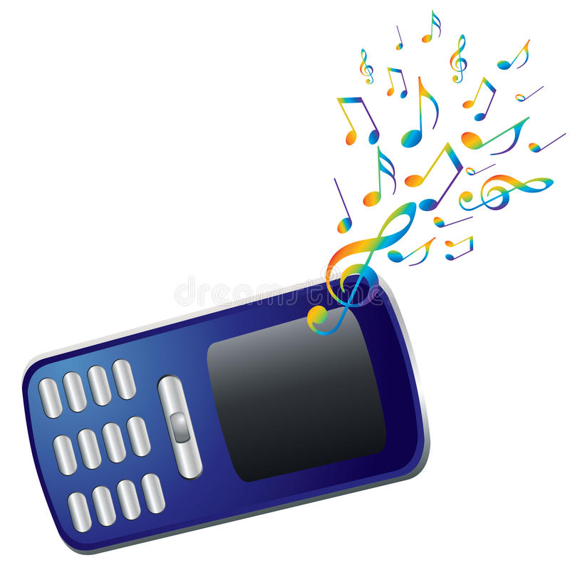 Download Mobile Phone And Music Notes. Stock Vector - Image: 17808240