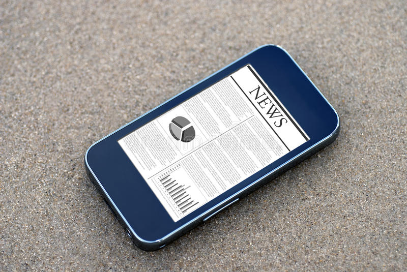 Download Mobile phone news stock image. Image of message, nature - 26814175