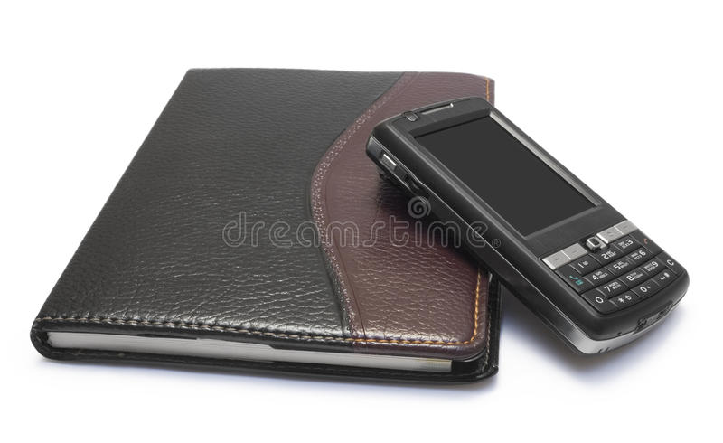 Download Mobile phone and notebook stock photo. Image of telephone - 13182500