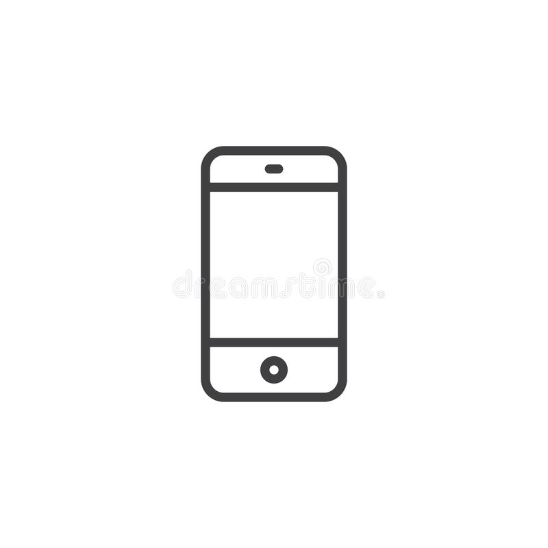 Free Mobile Phone Outline Icon Stock Image - 129610381