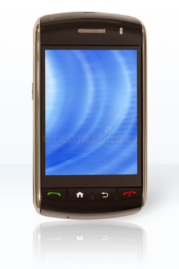 Download Mobile phone / PDA (on) stock photo. Image of blue, assistant - 13519882
