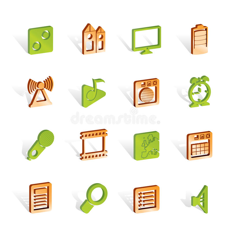 Mobile phone performance, internet and office icon. S - icon set vector illustration