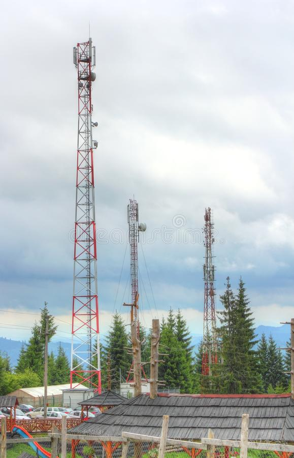 Mobile Phone Pillars Stock Image