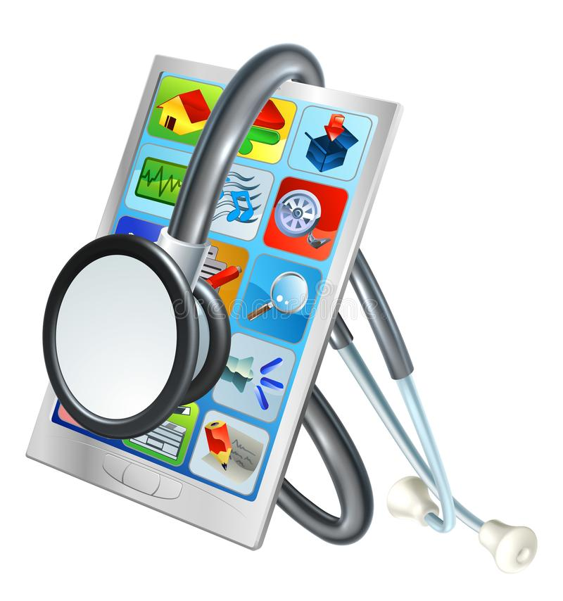 Free Mobile Phone Repair Health Concept Royalty Free Stock Images - 119554679