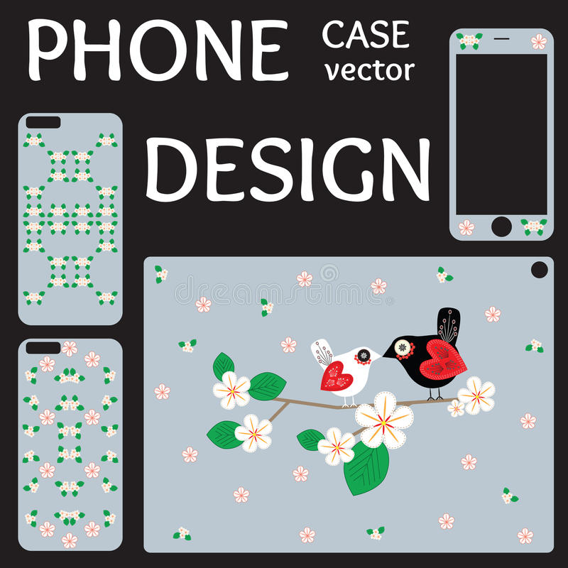 Mobile phone screen and cover back collection. royalty free stock photos